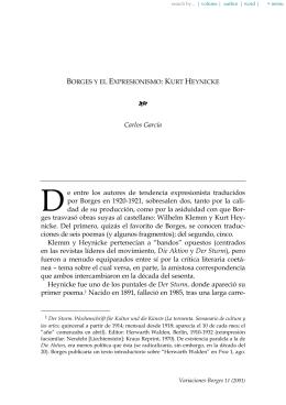 Borges y el Expresionismo: Kurt Heynicke