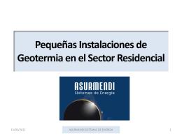 Pequeñas Instalaciones de Geotermia en el Sector