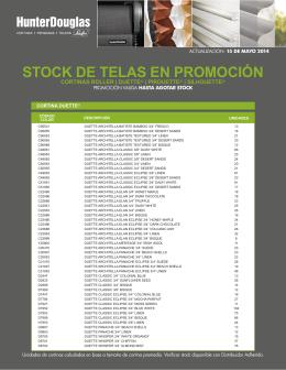 STOCK DE TELAS EN PROMOCIÓN