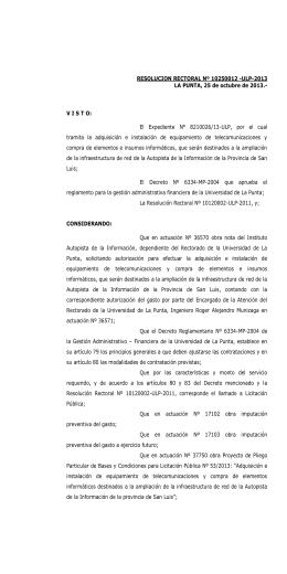Licitacion Publica Nº 53- ULP