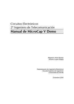 Apuntes de MicroCap V Demo - Departamento de Ingeniería
