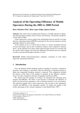 Analysis of the Operating Efficiency of Mobile Operators