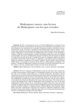Shakespeare sonoro: una lectura de Shakespeare con los ojos