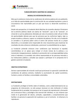 FUNDACIÓN BERTA MARTÍNEZ DE JARAMILLO MODELO DE
