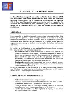 la flexibilidad - departamento de educación física