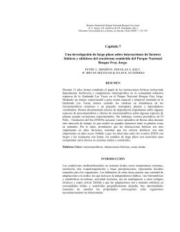 Una investigación de largo plazo sobre interacciones de factores