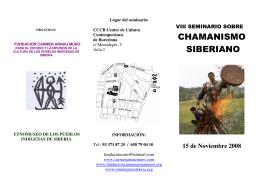 CHAMANISMO SIBERIANO - Fundación Carmen Arnau Muro
