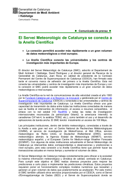 El Servei Meteorològic de Catalunya, nueva incorporación