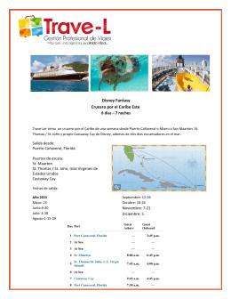 Disney Fantasy Caribe Este 8 noches - Trave-L