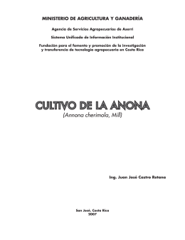 CULTIVO DE LA ANONA - Ministerio de Agricultura y Ganadería
