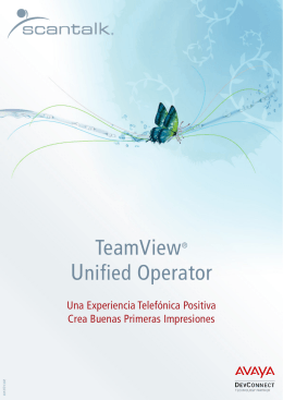 TeamView® Unified Operator