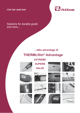 FLEXcon THERMLfilm Advantage Series UK-D-FR