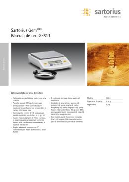 Sartorius Gemplus Báscula de oro GE811