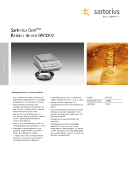 Sartorius Gemplus Báscula de oro GW3202