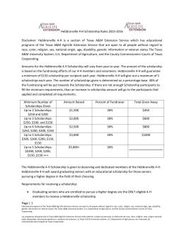 Hebbronville 4-H Scholarship Rules
