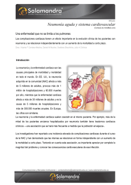 Neumonía aguda y sistema cardiovascular