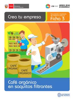 Ficha 3 Café orgánico en saquitos filtrantes