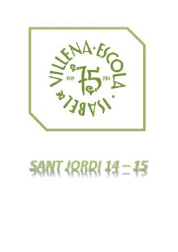 sant jordi 14 - 15 - Escola Isabel de Villena