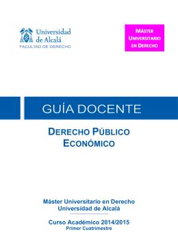 Derecho Publico Economico 2014-2015