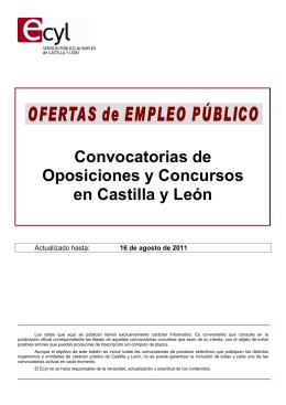 Boletín Oposiciones CyL 110816