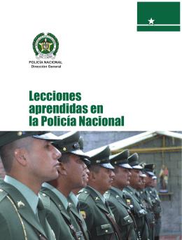 Lecciones aprendidas en la Policía Nacional