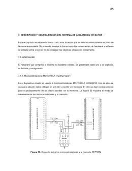 7. Descripción y configuración del sistema de adquisción