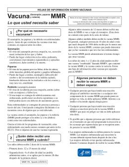 VIS MMR - Spanish - Immunization Action Coalition