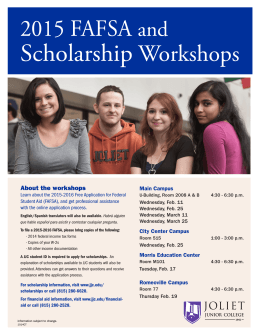 Scholarship Workshops