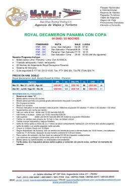ROYAL DECAMERON PANAMA CON COPA