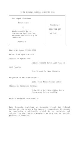 2006 TSPR 137 - Rama Judicial