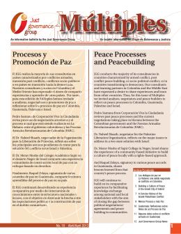 Múltiples 18: Procesos y Promoción de Paz