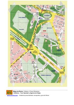 Mapa de Roma Coliseo y Foros Romanos EnRoma