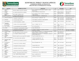 Directorio de oficialias - Gobierno del Estado de Tamaulipas