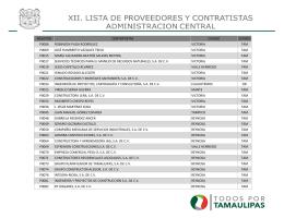 REGISTRO CONTRATISTAS CIUDAD ESTADO P0006 ROBINSON