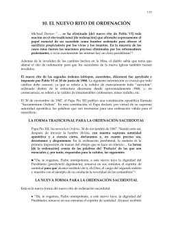 10. EL NUEVO RITO DE ORDENACIÓN
