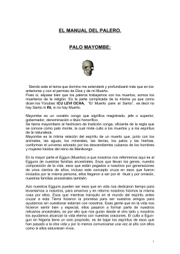 EL MANUAL DEL PALERO. PALO MAYOMBE: