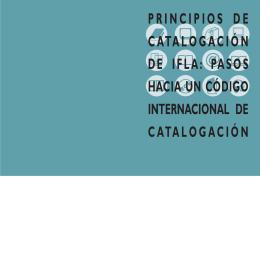 IFLA Principios catalogacion