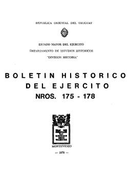 B O L E T Í N H I S T Ó R I C O DEL EJERCITO NROS. 175-178