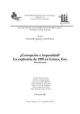 La explosión de 1999 en Celaya, Gto.