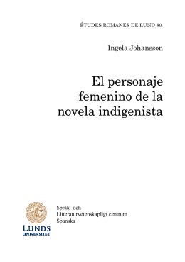 El personaje femenino de la novela indigenista