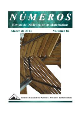 Revista de Didáctica de las Matemáticas Marzo de 2013 Volumen 82