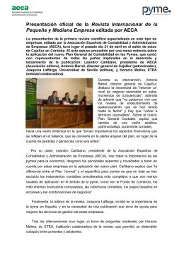NP Revista Pyme - Asociación Española de Contabilidad y