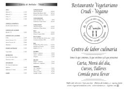 Carta - Restaurante la Unión