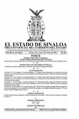 EL ESTADO DE SINALOA - Portal de Acceso a la Información