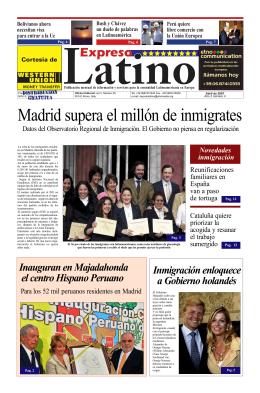 Madrid supera el millón de inmigrates