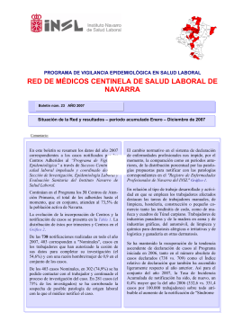 RED DE MÉDICOS CENTINELA DE SALUD LABORAL DE NAVARRA
