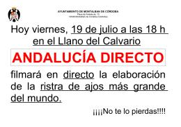 Andalucía Directo - Ayuntamiento de Montalbán
