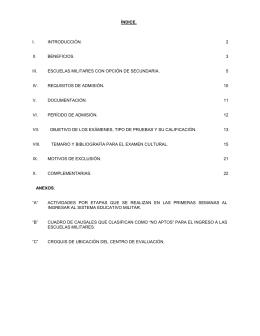 índice. i. introducción. 2 ii. beneficios. 3 iii. escuelas militares con