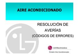 AIRE ACONDICIONADO RESOLUCIÓN DE AVERÍAS