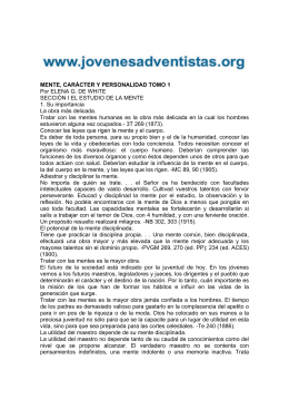 MENTE, CARÁCTER Y PERSONALIDAD TOMO 1 Por ELENA G